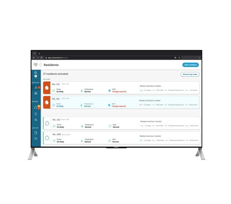 Screen-Application-TVie-monitoring-mode